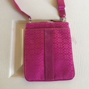 Fuschia Coach Crossbody Bag